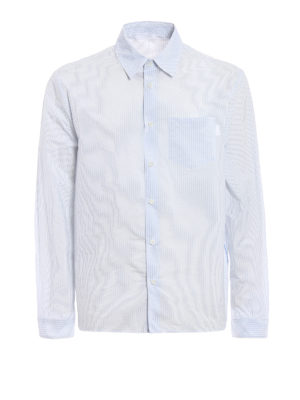 Prada: shirts - Striped techno shirt