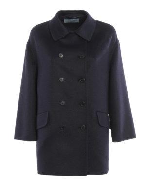 Prada: short coats - Cashgora blend peacoat