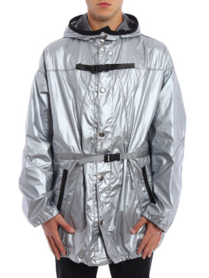 Prada: short coats online - Buckle raincoat