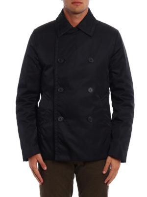 Prada: short coats online - Gabardine Nylon peacoat