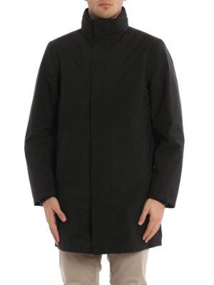 Prada: short coats online - Water repellent fabric overcoat