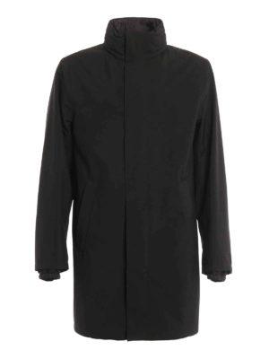 Prada: short coats - Water repellent fabric overcoat