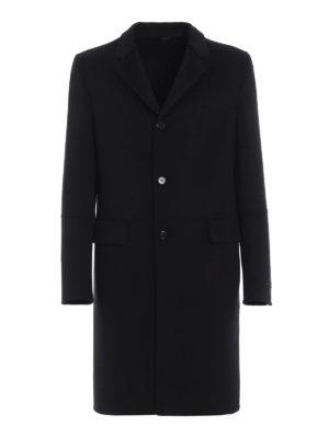 PRADA: cappotti corti - Cappotto in tessuto double di lana e angora