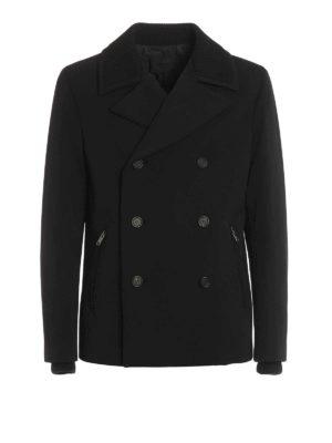Prada: short coats - Wool detailed gabardine peacoat