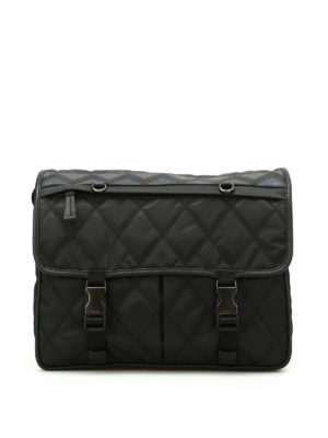 Prada: shoulder bags - Chevron detail messenger bag