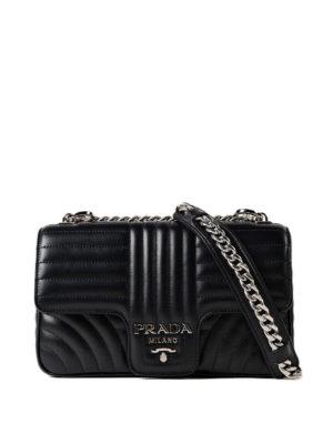 Prada: shoulder bags - Diagramme leather shoulder bag