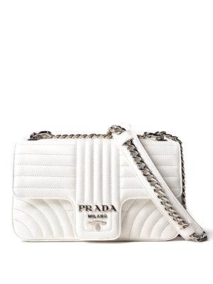 Prada: shoulder bags - Diagramme white shoulder bag