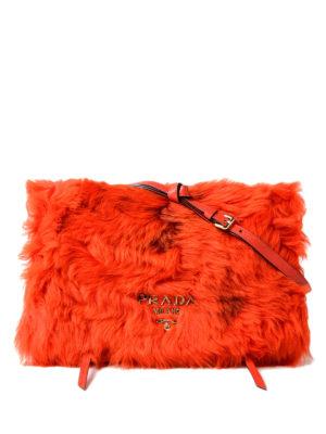 Prada: shoulder bags - Etiquette shearling and leather bag