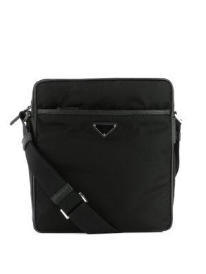Prada: shoulder bags - Logo detailed nylon shoulder bag