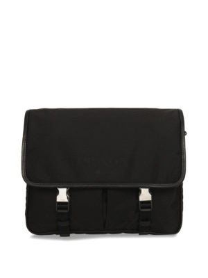 Prada: shoulder bags - Nylon and leather messenger bag