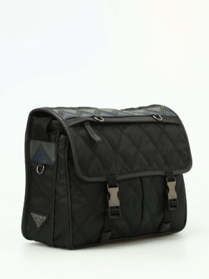 Prada: shoulder bags online - Chevron detail messenger bag