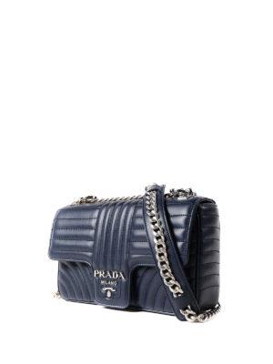 Prada: shoulder bags online - Diagramme leather shoulder bag