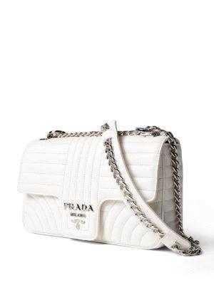 Prada: shoulder bags online - Diagramme white shoulder bag