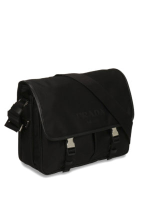 Prada: shoulder bags online - Nylon and leather messenger bag