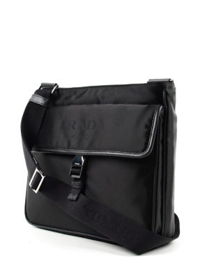 Prada: shoulder bags online - Saffiano and nylon messenger bag