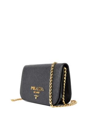 Prada: shoulder bags online - Saffiano leather small black bag