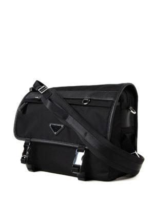 Prada: shoulder bags online - Techno fabric foldover messenger