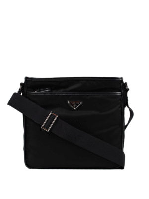 Prada: shoulder bags - Saffiano and nylon messenger bag
