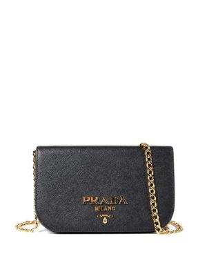 Prada: shoulder bags - Saffiano leather small black bag
