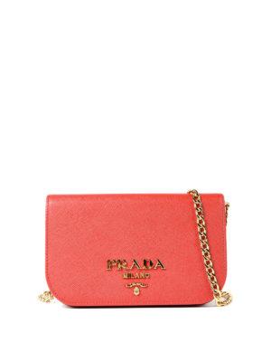 Prada: shoulder bags - Saffiano leather small red bag