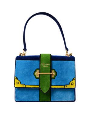 Prada: shoulder bags - Velvet embroidered shoulder bag