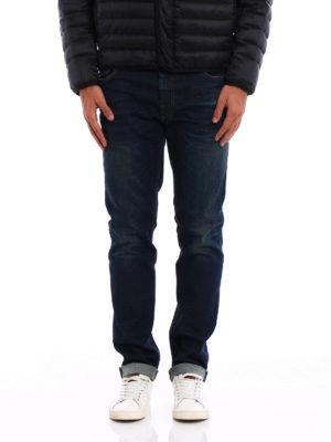 Prada: straight leg jeans online - Used effect denim jeans