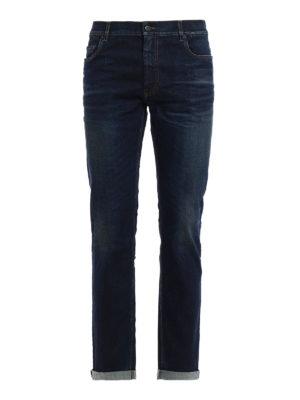 Prada: straight leg jeans - Used effect denim jeans