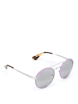 Prada: sunglasses - Cinéma light purple sunglasses
