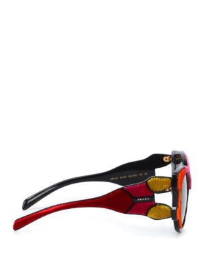 Prada: sunglasses online - Velvet detailed sunglasses