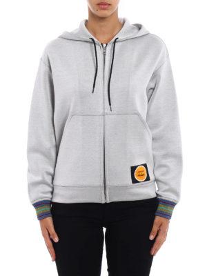 Prada: Sweatshirts & Sweaters online - Printed techno jersey hoodie