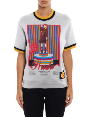 Prada: Sweatshirts & Sweaters online - Printed techno jersey sweatshirt