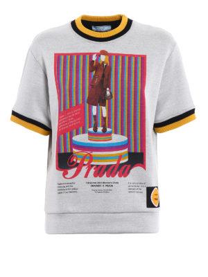 Prada: Sweatshirts & Sweaters - Printed techno jersey sweatshirt