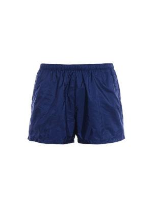 Prada: Swim shorts & swimming trunks - Blue nylon swim shorts