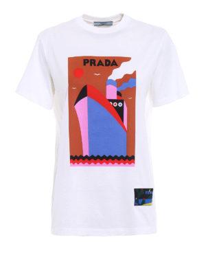 Prada: t-shirts - JWP Boat cotton T-shirt