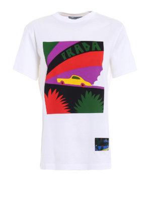 Prada: t-shirts - JWP Car cotton T-shirt