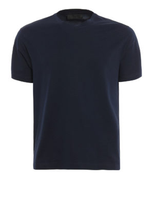 Prada: t-shirts - Light stretch cotton T-shirt