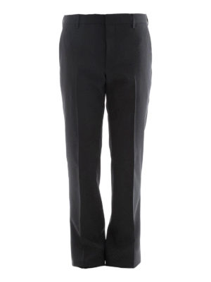Prada: Tailored & Formal trousers - Black stretch wool formal trousers