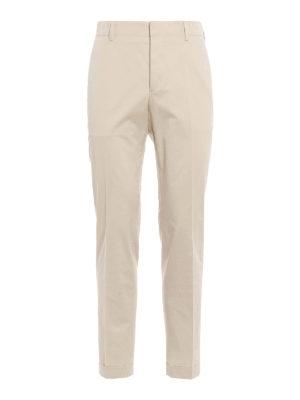 Prada: Tailored & Formal trousers - Cotton gabardine trousers