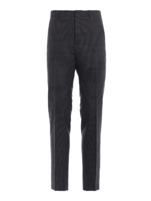 PRADA: Pantaloni sartoriali - Pantaloni in lana pied-de-poule