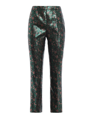 Prada: Tailored & Formal trousers - Jacquard lurex trousers