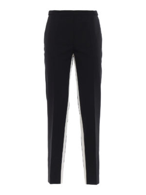 PRADA: Pantaloni sartoriali - Pantaloni in lana leggera con bande