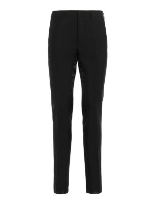 Prada: Tailored & Formal trousers - Mohair and wool blend trousers