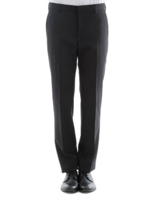 Prada: Tailored & Formal trousers online - Black stretch wool formal trousers