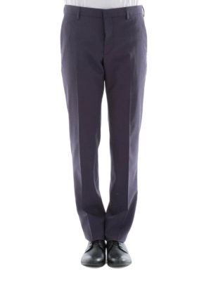 Prada: Tailored & Formal trousers online - Blue stretch wool formal trousers