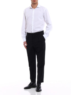 Prada: Tailored & Formal trousers online - Classic styled wool blend trousers