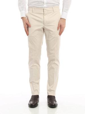Prada: Tailored & Formal trousers online - Cotton gabardine trousers