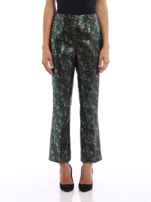 Prada: Tailored & Formal trousers online - Jacquard lurex trousers