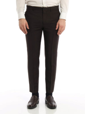 Prada: Tailored & Formal trousers online - Kid mohair and wool  trousers