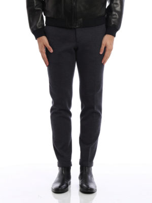 Prada: Tailored & Formal trousers online - Knitted wool cloth trousers