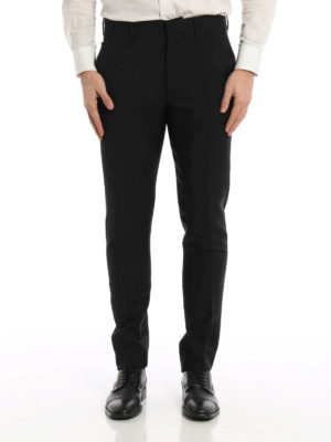 Prada: Tailored & Formal trousers online - Mohair and wool blend trousers
